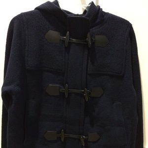 Burberry Brit Navy Short Hooded Toggle Jacket